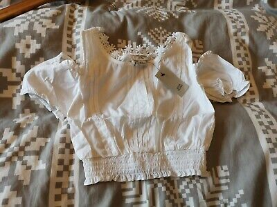 BNWT girls floral trim crop top by RIVER ISLAND in size 5-6 years