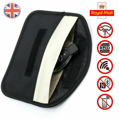 UK Phone Car Key Keyless Entry Fob Signal Blocker Faraday Bag Larger Version