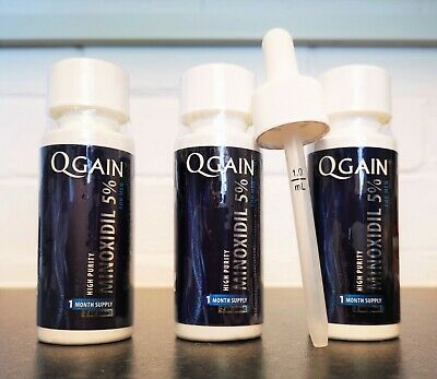 Qgain High Purity Minoxidil 5% for MEN 3 month supply Slightly Leaking  No Box