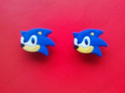 2 Sonic The Hedgehog From Mario jibbitz croc shoe charms wrist band cake toppers