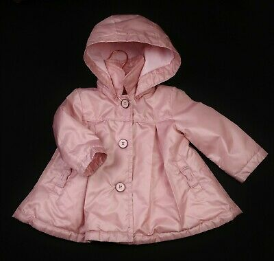 Baby Girls TED BAKER Pink Quilted Lightweight Hooded Coat Jacket 9-12 Months VGC