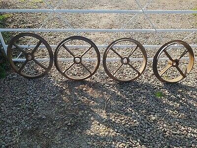4 Cast Iron Wheels old cambridge roller wheels ring roller rings