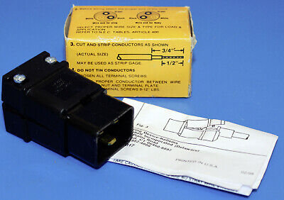 NEW Hubbell H320P PLUG IEC 320 250VAC 2 Pole 3 Wire Grounding Black