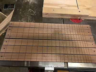"Quartersawn White Ash Cigar Box Guitar fingerboard slotted 25.5/""  Fender scale"