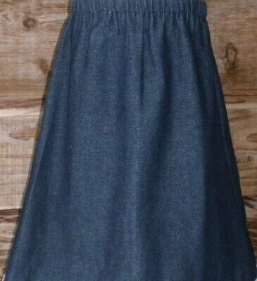 Girl long full tiered cotton floral skirt modest pink blue purple size XS S M L