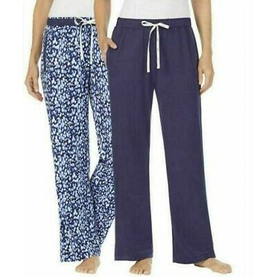 NWT Women's DKNY 2 Pack Lounge Sleep Pajama Pants, Navy, Size Small