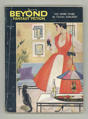 July 1954 BEYOND FANTASY FICTION.Rare sci-fi pulp. 7 complete stories