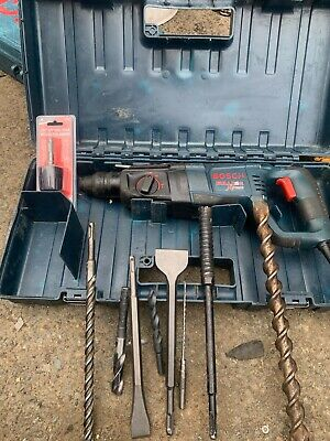 Bosch Bulldog Xtreme rotary hammer drill with 8 bits + 1 adapter