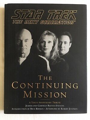 STAR TREK THE NEXT GENERATION THE CONTINUING MISSION 1997 HB 1st 1st in DJ