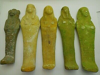 5 ANCIENT EGYPTIAN ANTIQUE ISIS Ushabti Shabti Limestone 1459-1245 BC