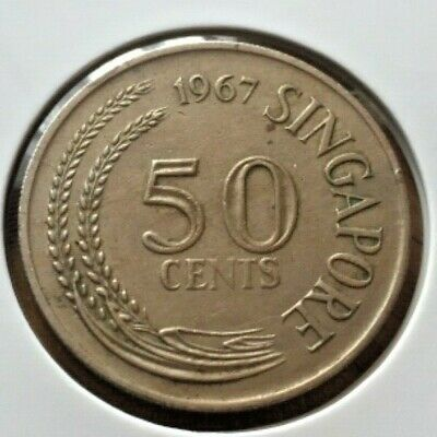 Singapore 1967 50 Cent Coin