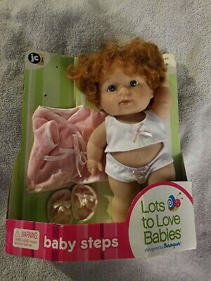 "Berenguer Red Hair Toddler Lots to Love Baby Steps Chunky Doll Poses! 9.5""~NIP!"