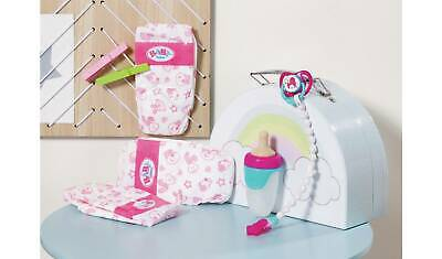 zapf BABY born Doll Accessories Set,nappies, dummy & baby bottle,toys bundle