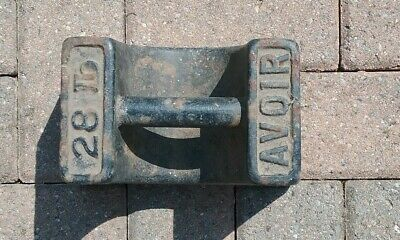 Vintage 28lb Cast Iron Weight Avior