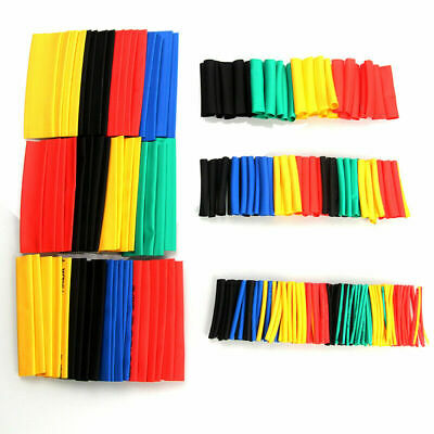 328PCS 8 Size Heat Shrink Polyolefin Tubing Tube Sleeve Wrap Wire Repair+Protect