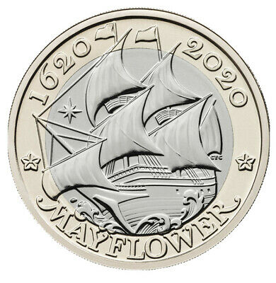 2020 Two Pound £2 Pound Coin MAYFLOWER Brilliant Uncirculated BUNC