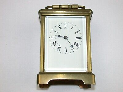 French Brass & Glass Tine Only Running Carriage Clock. 1Y