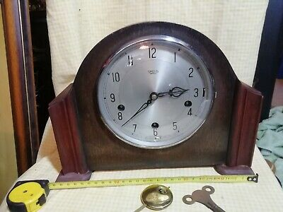 Smith's Enfield Westminster Chime Mantle Clock In E.w.o Senwes1