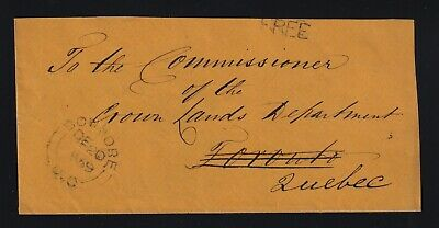 Canada 1859 BOWMORE REDIRECTED Stampless Cover FREE RATE to Quebec
