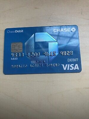 COLLECTIBLE OBSOLETE CHASE VISA DEBIT CARD, exp 2019 (FF18)