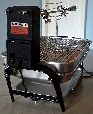 Vintage Farberware Open Hearth Indoor Electric Rotisserie Grill 450-A Tested USA