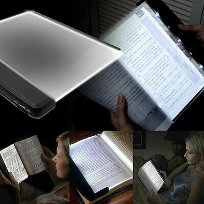 Creative LED Book Lights Reading Night Flat Plate Portable Car Travel P4D5 M7B4