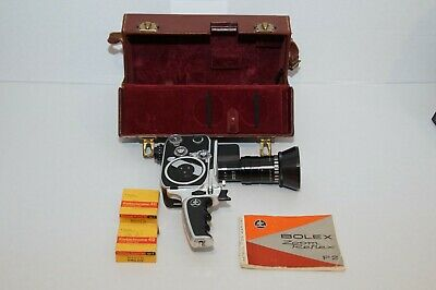 PRICE DROP! Bolex P2 8mm Paillard  Zoom Reflex Movie Camera w/Case/Ins.Book/Film