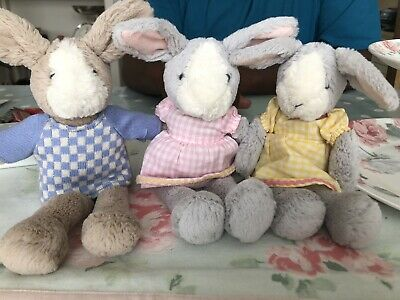 REDUCED Laura Ashley Set Of 3 Rabitts With Outfits Job Lot X3