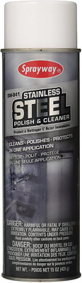 Sprayway Aerosol Can Stainless Steel Polish & Cleaner, Vintage Can Spary 15 oz