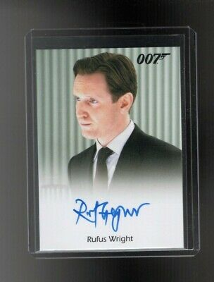 James Bond Archives Final Edition Rufus Wright Autographed card