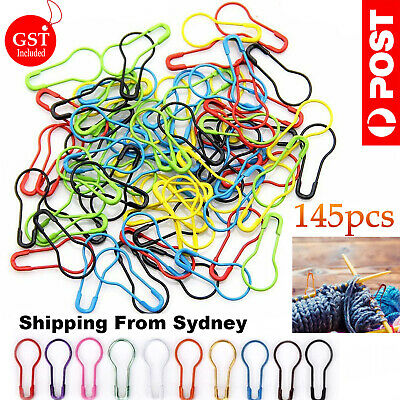 145pc/set Knitting Weave Crochet Locking Stitch Markers Holder Needle Clip Craft
