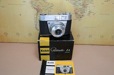 Kodak Retinette 1A With Original Box And Instructions
