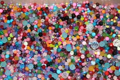 50Gr MIXED GLASS METAL ACRYLIC BEADS PENDANTS CHARMS COMPLETE MIXTURE NEW