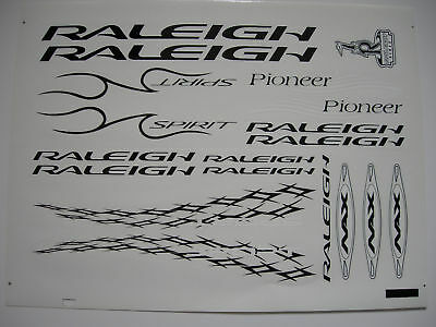 Raleigh Pioneer Spirit Decal Sticker Label Transfer - Black