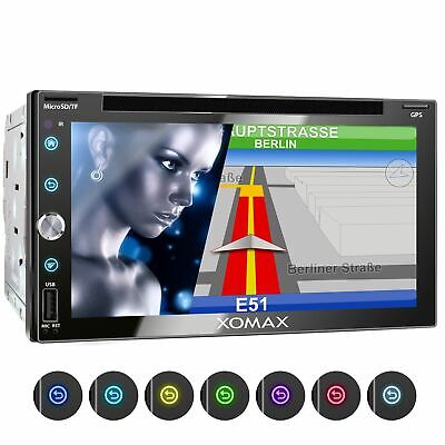 Autoradio Navi DVD CD Bluetooth 6,9 Zoll 17,5cm Touchscreen Display Sd Usb 128gb
