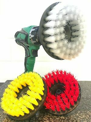 Drill attachment brushes for home, carpet, upholstery, cars, van, truck, caravan