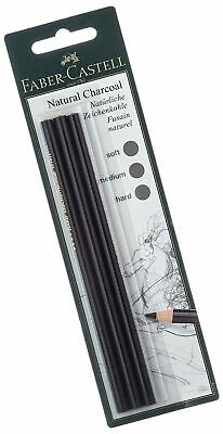 Faber-Castell Pitt Natural Willow Charcoal Pencil Set Set of 3