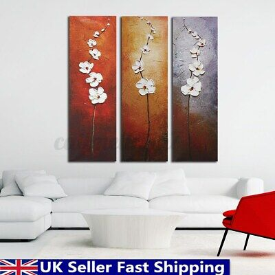3 Panel Flower Blossom Canvas Print Painting Wall Painting Decor Unframed GB
