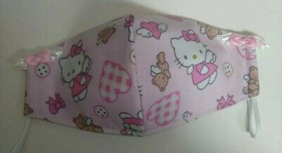 Hello Kitty Handmade Face Mask Adult Size with 3-Layers Angel Kitty