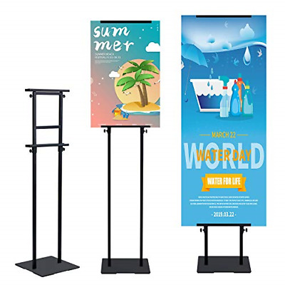 T-SIGN Heavy Duty Poster Stand with Non-Slip Mat Base, Adjustable Pedestal Sign