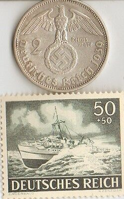 -*WW2 -  *us  and  *german  SILVER  coins  and  STAMPS