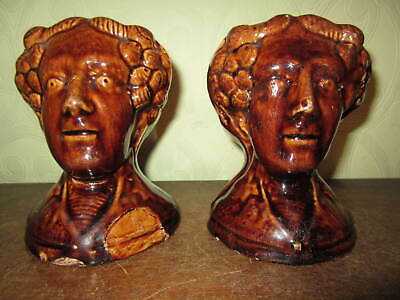 A pair of antique Georgian or Victorian pottery sash window stops 2
