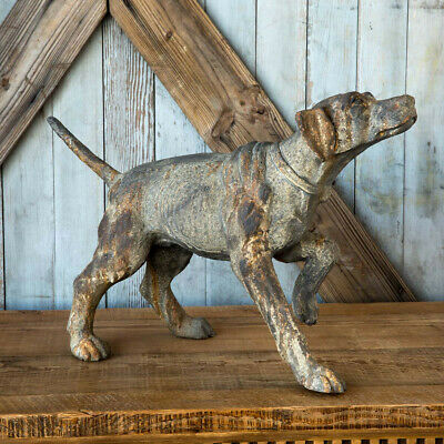 Hunting Dog Statue Distressed