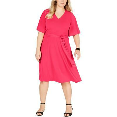 Charter Club Womens Short Sleeves Knee-Length V-Neck Midi Dress Plus BHFO 0116