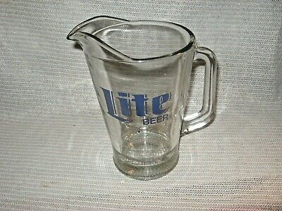 Miller Lite Beer 2 Quart Glass Beverage Pitcher / Great Condition