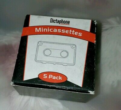 New Dictaphone MINI Cassette Tapes - 5 Pack