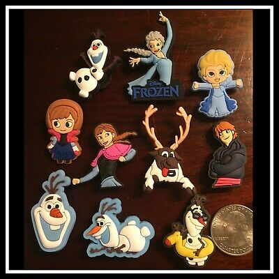 10 Shoe Charms for Crocs FROZEN 2  ELSA ANNA (Young & Old) OLAF KRISTOFF SVEN