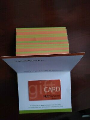 $500 Nutrisystem Success Gift Card No Expiration Fast Shipping (Make an offer)