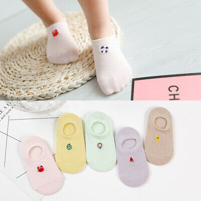 5 Pairs Baby Boys Girls Kids Trainer Ankle Socks  Seamless Cotton For 1-10 Years
