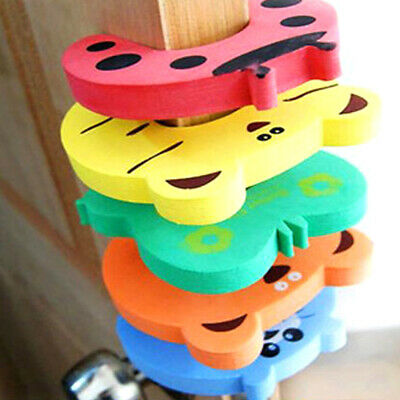 10X/Set Children Safety Door Clamp Pinch Stopper Baby Safety Door Stopper Clips